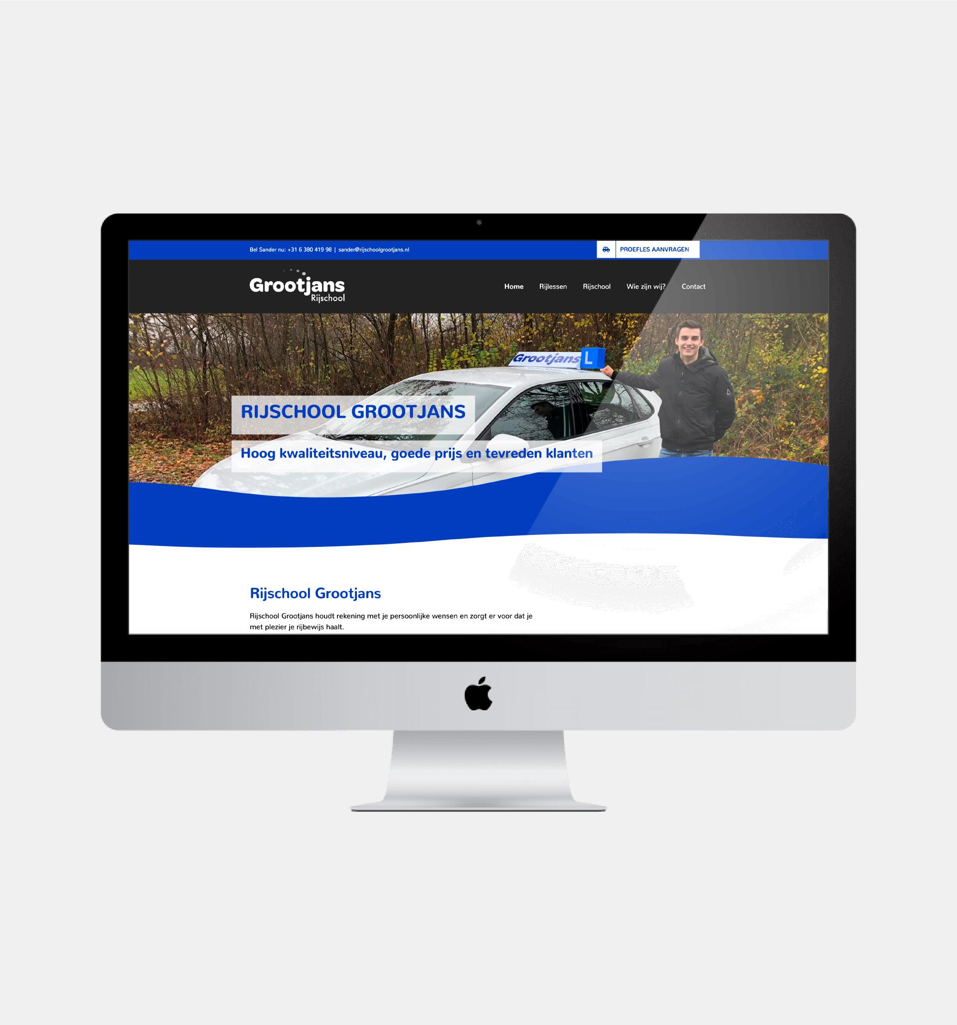Website van Rijschool Grootjans, gemaakt door Hermans Creative & Digital Design